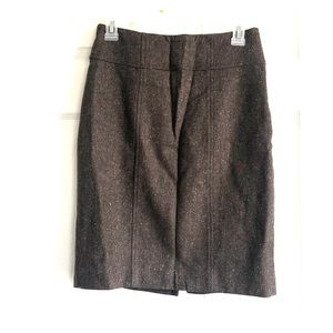Women's brown woven business casual skirt size 2